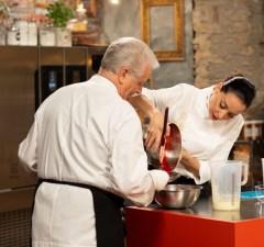Iginio Massari e figlia Debora su Food network