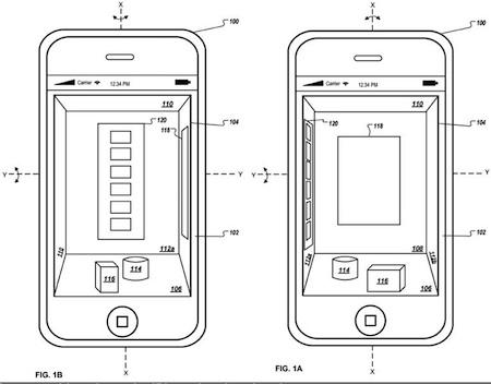 Apple brevet 3D springboard