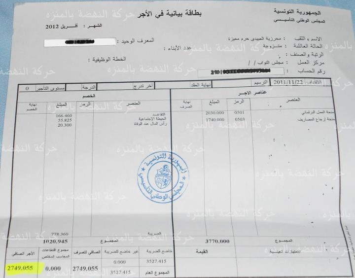 bulletin de paie tunisie pdf