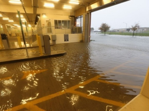 Sandy Ouragan - Inondation d'un parking à Atlantic City