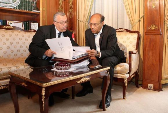 Noureddine Bhiri - Moncef Marzouki