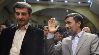 Mahmoud Ahmadinejad et Esfandiar Rahim Mashaei