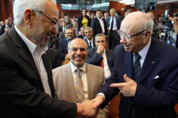 R. Ghannouchi et B.C. Essebsi - Potentielle entente nationale