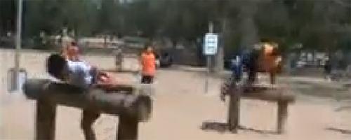 camp djihadiste pour enfant à la ville de Sfax-Tunisie (qualité vidéo basse)