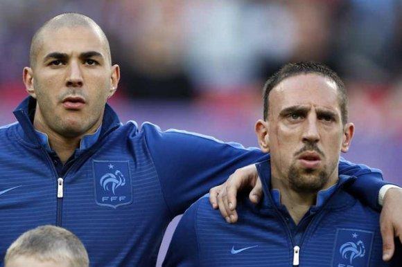 Karim Benzema et Franck Ribéry