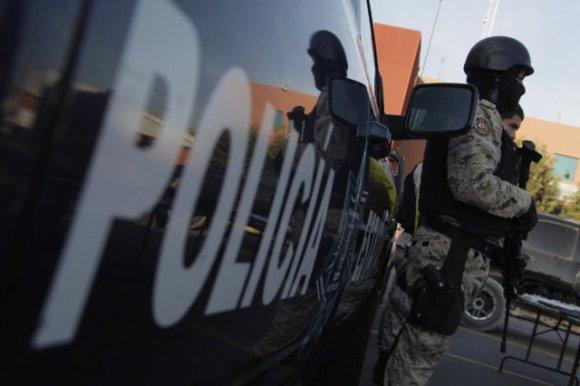 Le convoi millitaire qui a procédé à l'arrestation du chef des Zetas, au Mexique