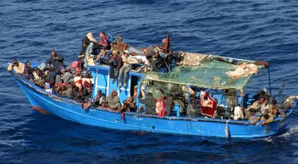 Immigrés de Libye vers l'Italie