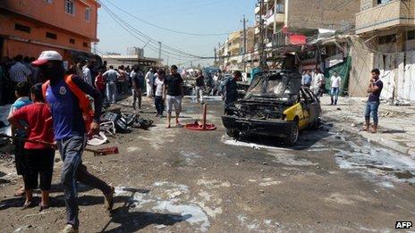 Les dernières violences ont vu un certain nombre d'attentats à la voiture pendant l'heure de pointe