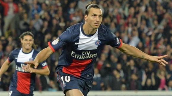 L'attaquant suédois du PSG Zlatan Ibrahimovic