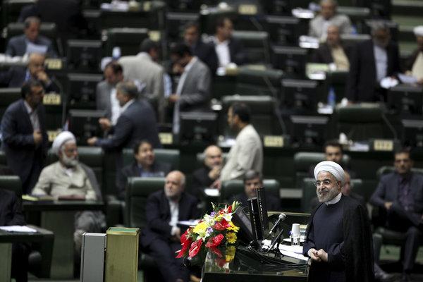 Le président iranien Hassan Rouhani envisage  à New York.