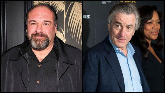 James Gandolfini (gauche) Robert De Niro (droite)