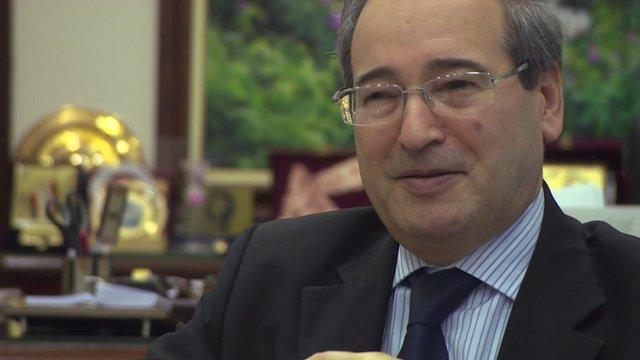 S'adressant à la BBC , vice-ministre syrien Faisal Mekdad déclaré que le terrorisme serait florissant partout, si les Etats-Unis ont attaqué la Syrie