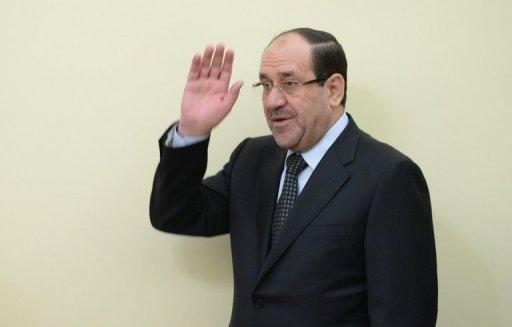 Le Premier ministre irakien Nouri al-Maliki en photo à New Delhi le 23 Août 2013.