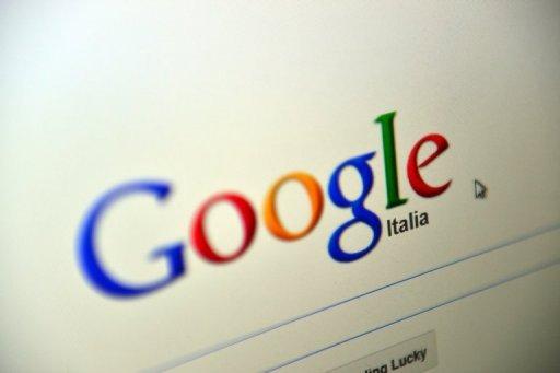 Un écran d'ordinateur avec le site italien Google le 28 Novembre 2012 à Rome.