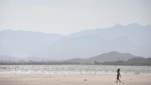 Une plage près du village de Ambinanibe au sud d'Antananarivo.