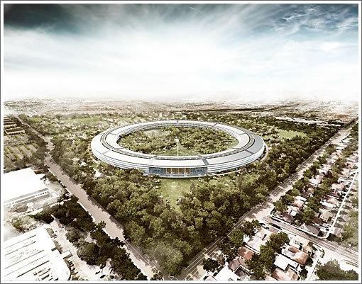 Le nouveau Campus 2 d'Apple à Cupertino.