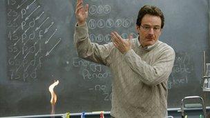 Walter White (Bryan Cranston), comme il est apparu dans l'épisode pilote de Breaking Bad en 2007.