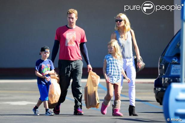 Gwyneth Paltrow et Chris Martin en famille à Los Angeles