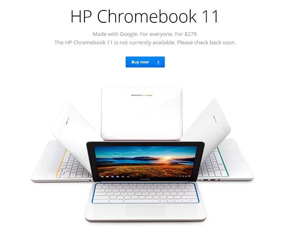 Hp chromebook 11 : tout juste commercialisé et déjà retiré de la vente