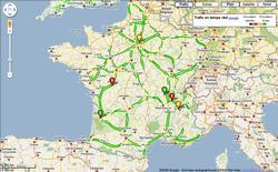 Google Maps affiche maintenant le trafic en temps réel