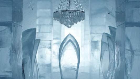 L'hôtel est composé d'un mélange de neige et de glace