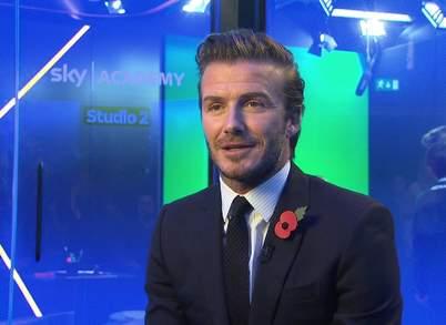 David Beckham participe au lancement Sky Academy