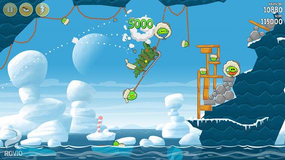 Angry Birds Seasons mis à jour pour Noël