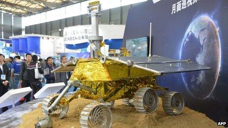 Un modèle du mobile a été montré lors d'une foire de l'industrie à Shanghai plus tôt ce mois-ci