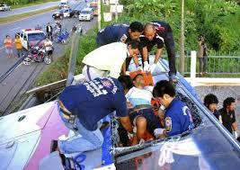 Accident de bus en Thaïlande