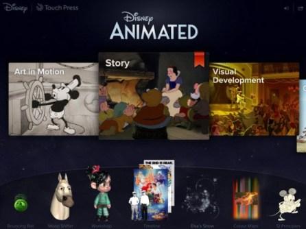 Disney Animated est l'application iPad de l'année d'Apple