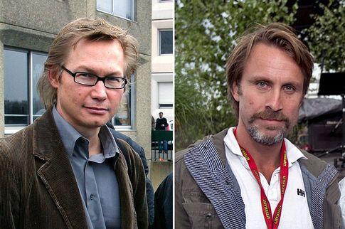 Les deux journalistes suédois Magnus Falkehed et Hammarströmöm