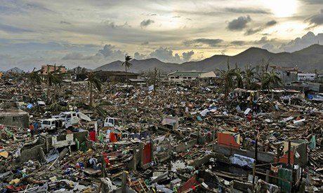 Le Typhoon Haiyan qui frappé les Philippines