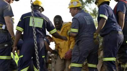 évacuation des mineurs bloqués