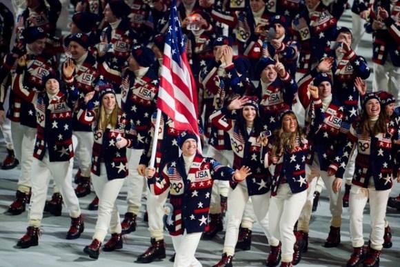 Ceremonie d'Ouverture - Equipe Etats Unis