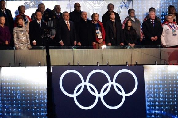 Ceremonie d'Ouverture - Thomas Bach / Vladimir Poutine