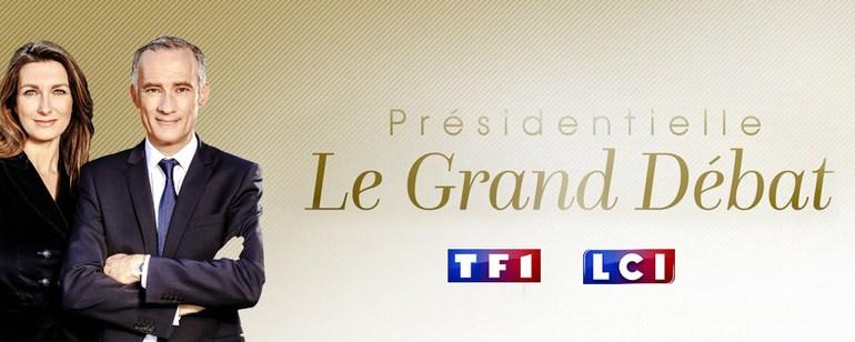 Voir Présidentielle le grand débat en direct sur TF1 : Replay vidéo débat Jean-Luc Mélenchon, Marine Le Pen, François Fillon