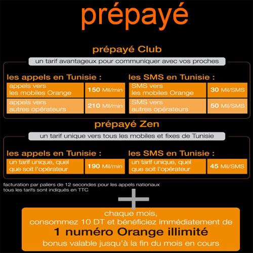 Offres Prépayées Orange Tunisie