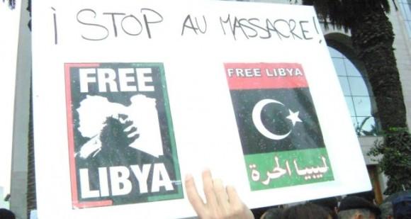 Marche de solidarité, à Tunis, avec le peuple libyen