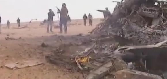 Avion de chasse abattu en Libye par les insurgés