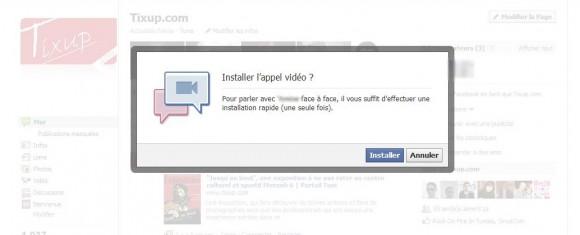 Chat audio/vidéo sur Facebook: installer le service