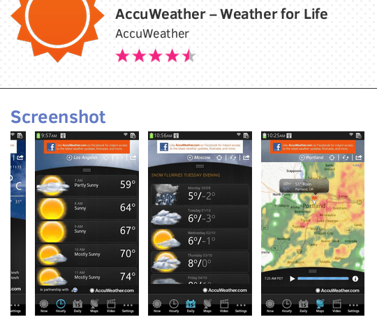 AccuWeather App for Tizen
