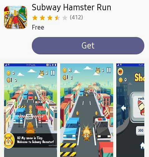 Subway Hamster Run Tizen