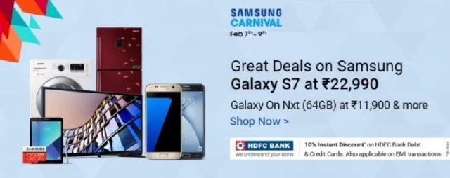 Samsung Flipkart Offers