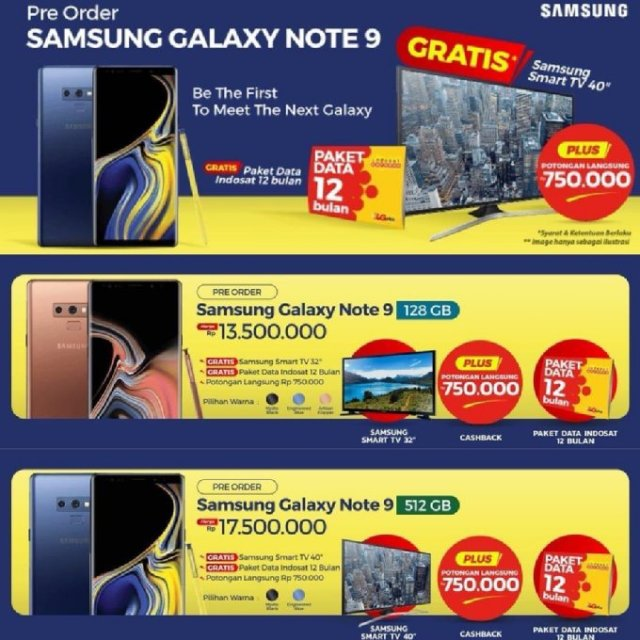 Galaxy Note 9 Prices