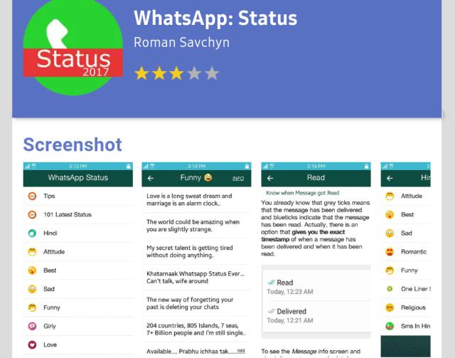 WhatsApp Status on Tizen