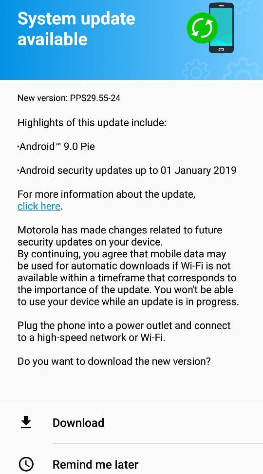 Moto G6 Receiving Android Pie Update in India - TizenHelp