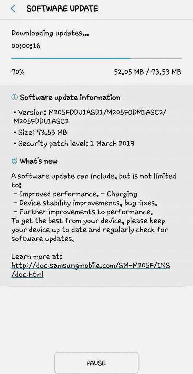 Galaxy M20 Update