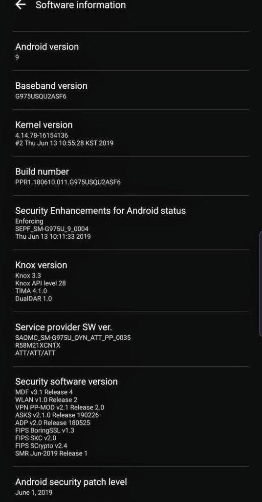 Galaxy S10 Update
