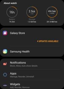 WhatsApp on Galaxy Watch Active