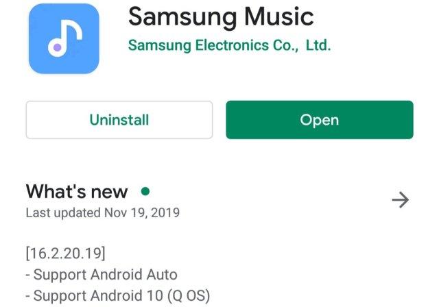 Samsung Music Update